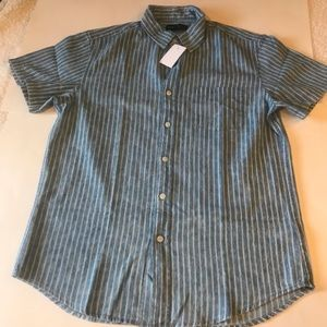 J Crew Mercantile Striped button down Shirt Size M